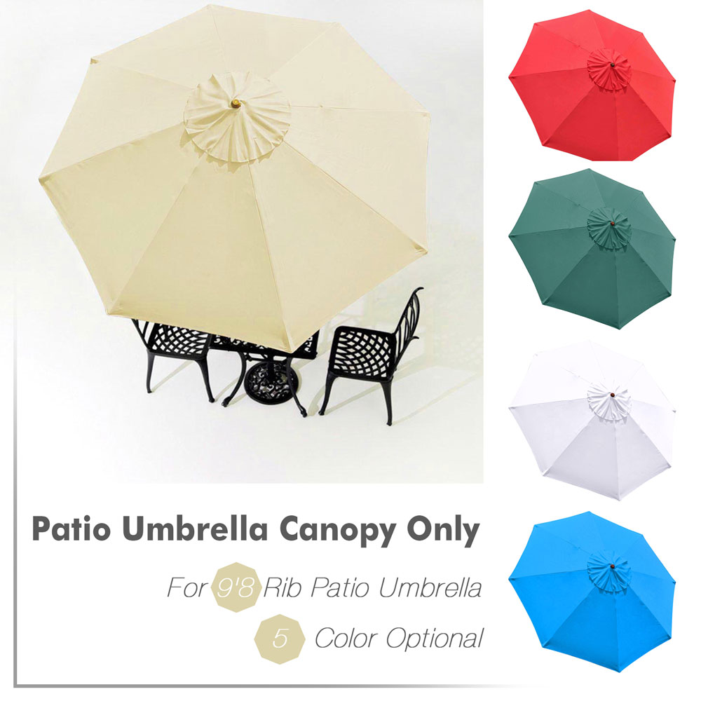 Patio Umbrella Replacement Canopy: 9' Umbrella Cover Canopy Replacement Top Patio Market