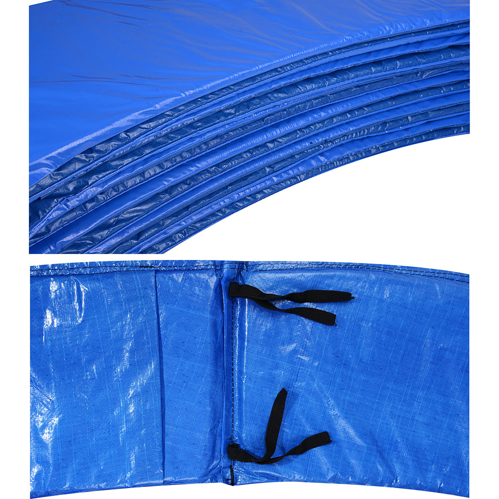 Safety Round Frame Blue Pad Spring Pad Replacement Cover: 12/14/15 FT Trampoline Safety Pad Spring Round Frame Pad