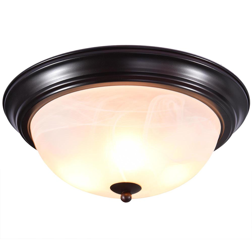 11 Quot 13 Quot 15 Quot Oil Rubbed Bronze Flush Mount Ceiling Light