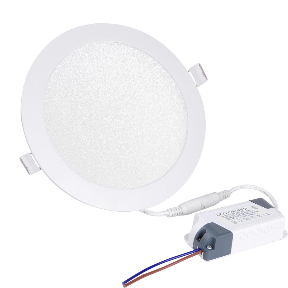6w 12w 18w 24w Led Recessed Ceiling Flat Panel Down Light: 3W 9W 12W 15W 18W LED Recessed Ceiling Panel Down Light