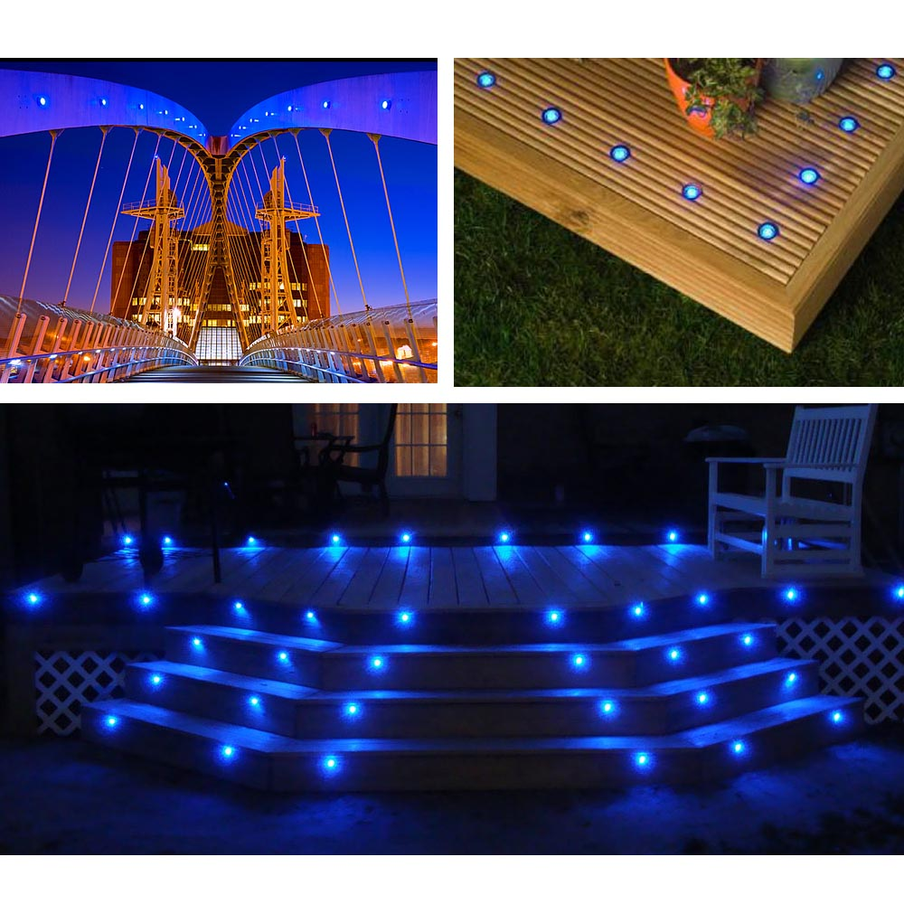 5pcs led garden deck lights low voltage waterproof in outdoor holiday lighting. Black Bedroom Furniture Sets. Home Design Ideas