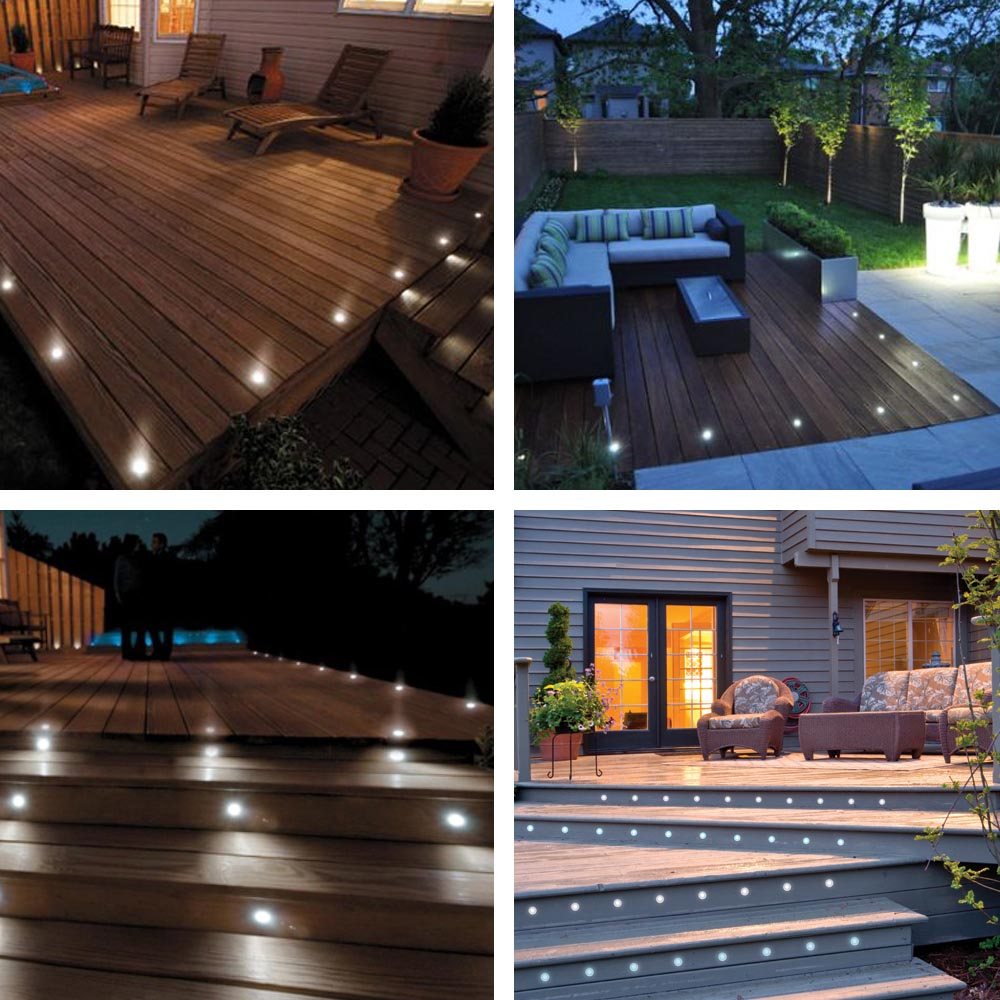 Outdoor Lights On Patio: 5pcs LED Garden Deck Lights Low Voltage Waterproof In