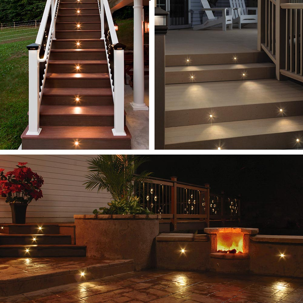 Deck light yard garden patio stairs landscape outdoor led for Balcony lights