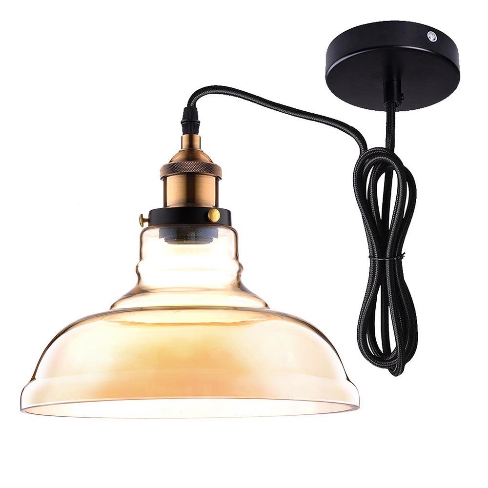 Vintage Industrial Primitive Glass Hanging Ceiling Lamp