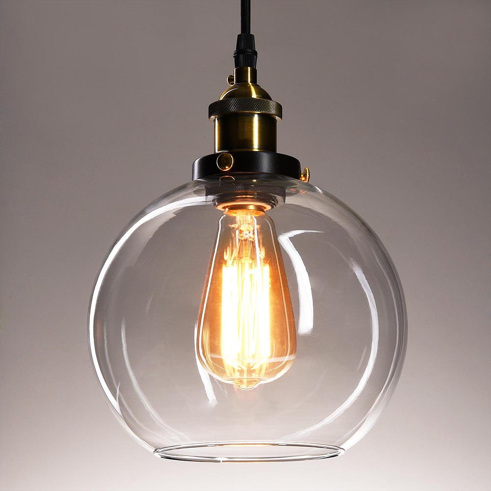 Ceiling Lamp Replacement Glass: Vintage Industrial Glass Ceiling Pendant Chandelier Light