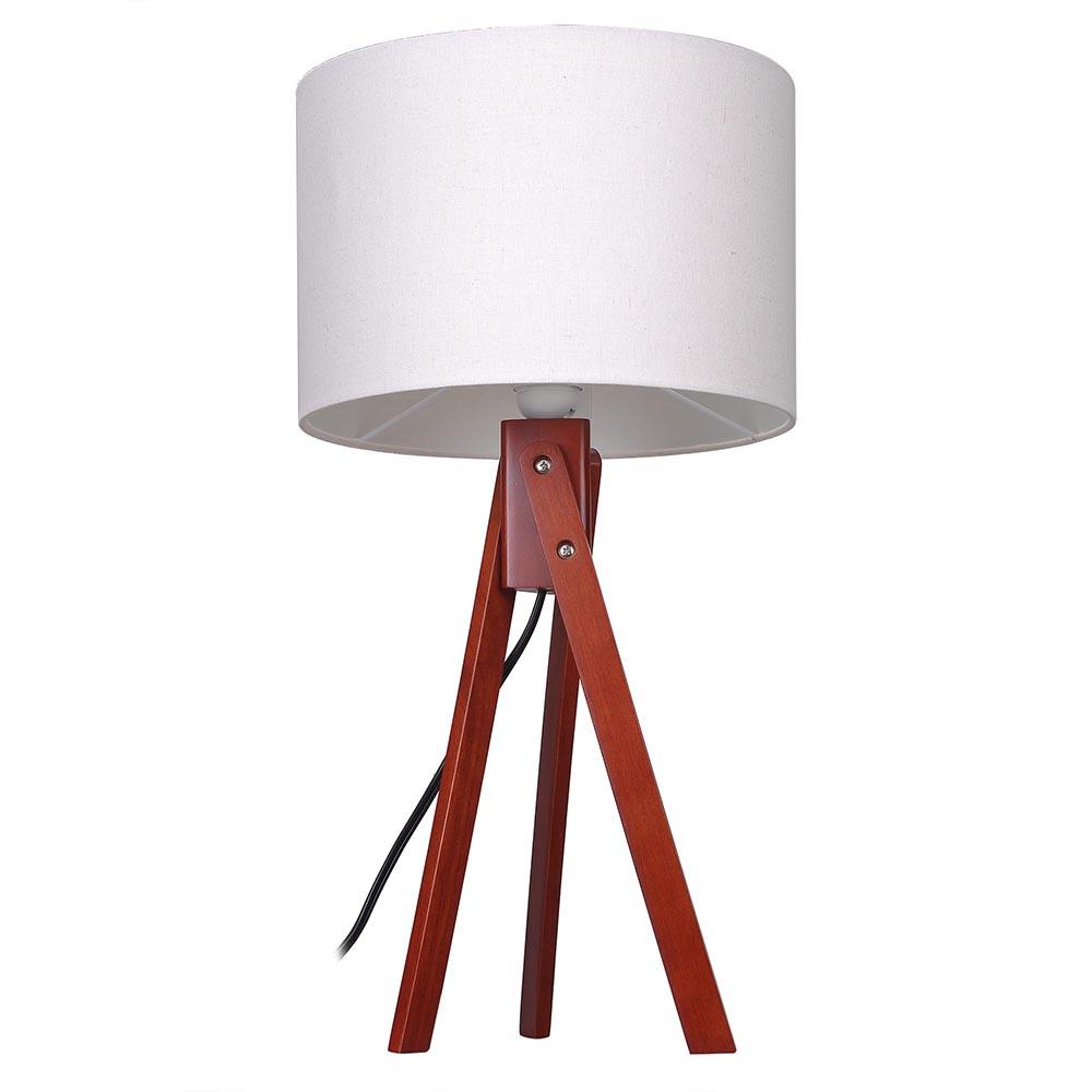 modern tripod table desk floor lamp wood wooden stand home office bedroom lig. Black Bedroom Furniture Sets. Home Design Ideas
