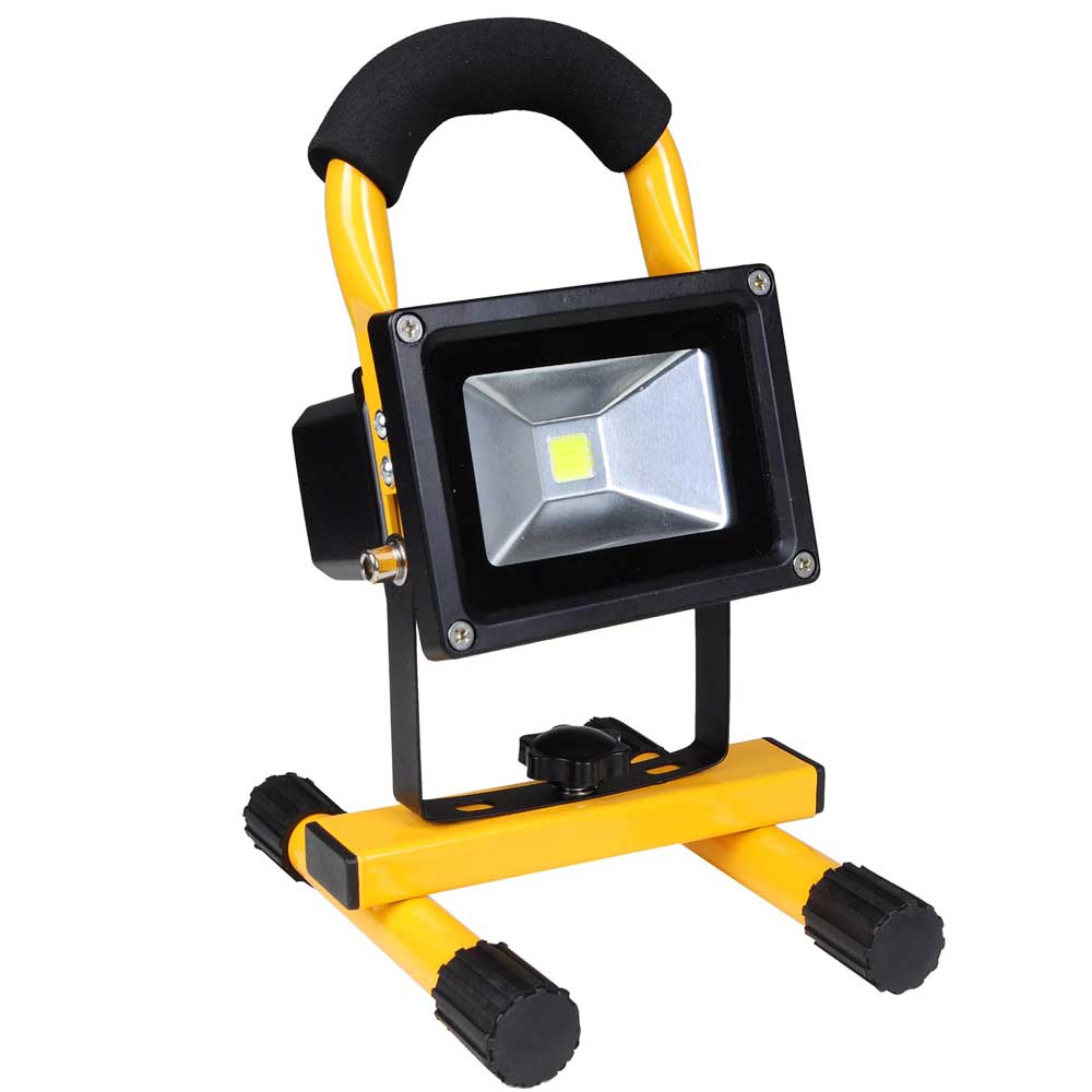Outdoor Flood Light Does Not Work: 10W Portable Cordless Work Light Rechargeable LED Flood