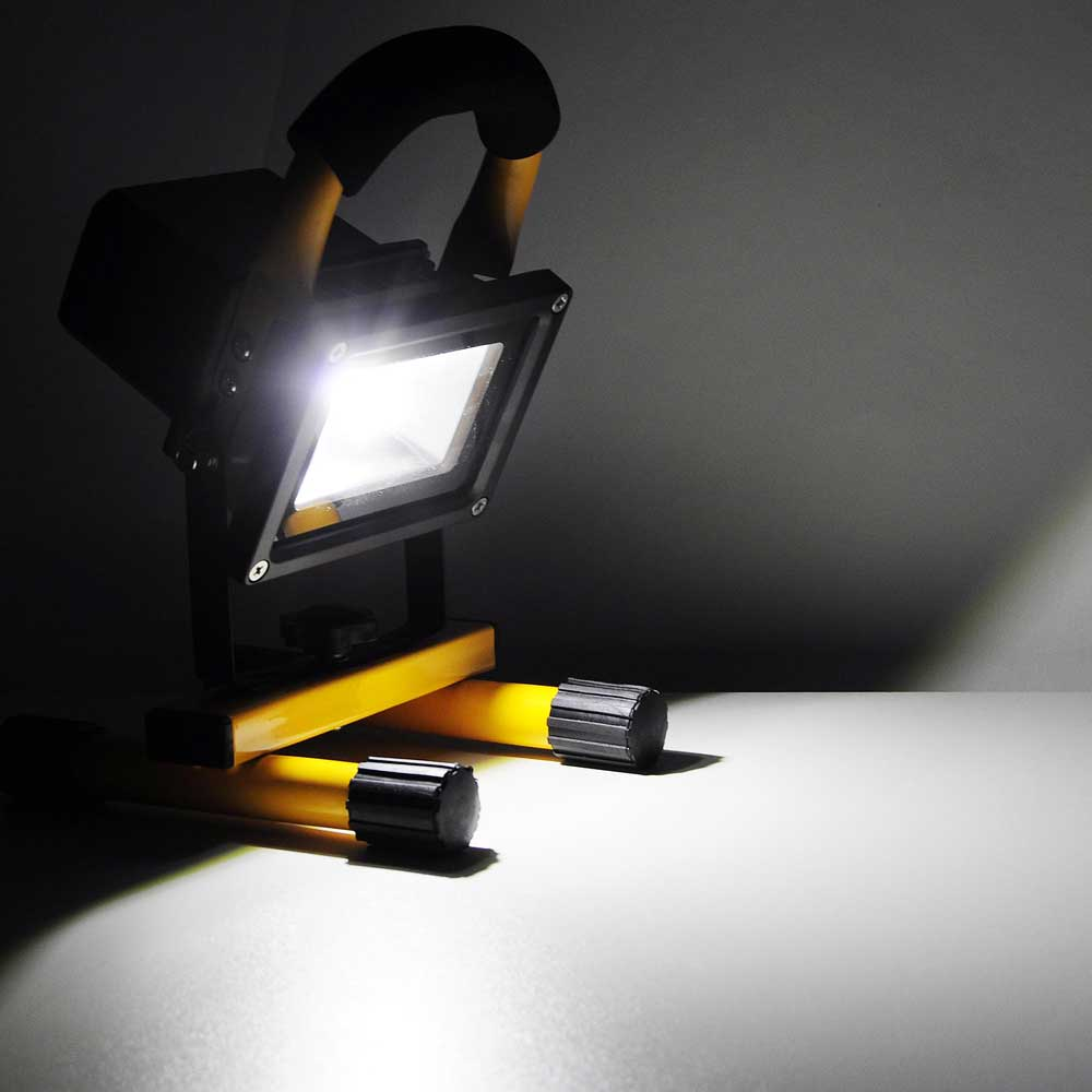 details about 10w portable cordless work light rechargeable led flood. Black Bedroom Furniture Sets. Home Design Ideas