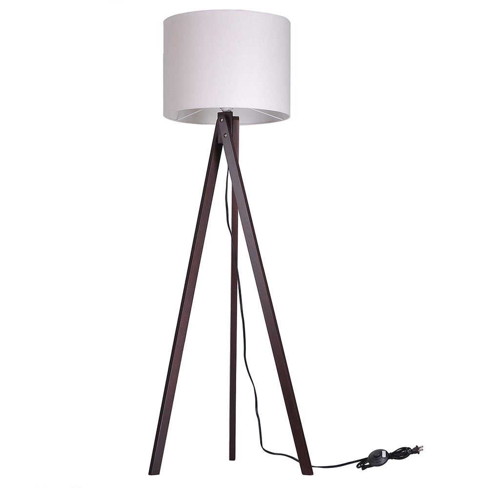 57 deluxe modern wood tripod table reading floor lamp desk lighting hom. Black Bedroom Furniture Sets. Home Design Ideas