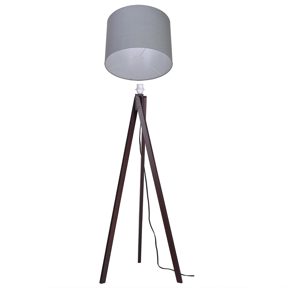 57 Quot Deluxe Modern Wood Tripod Table Reading Floor Lamp