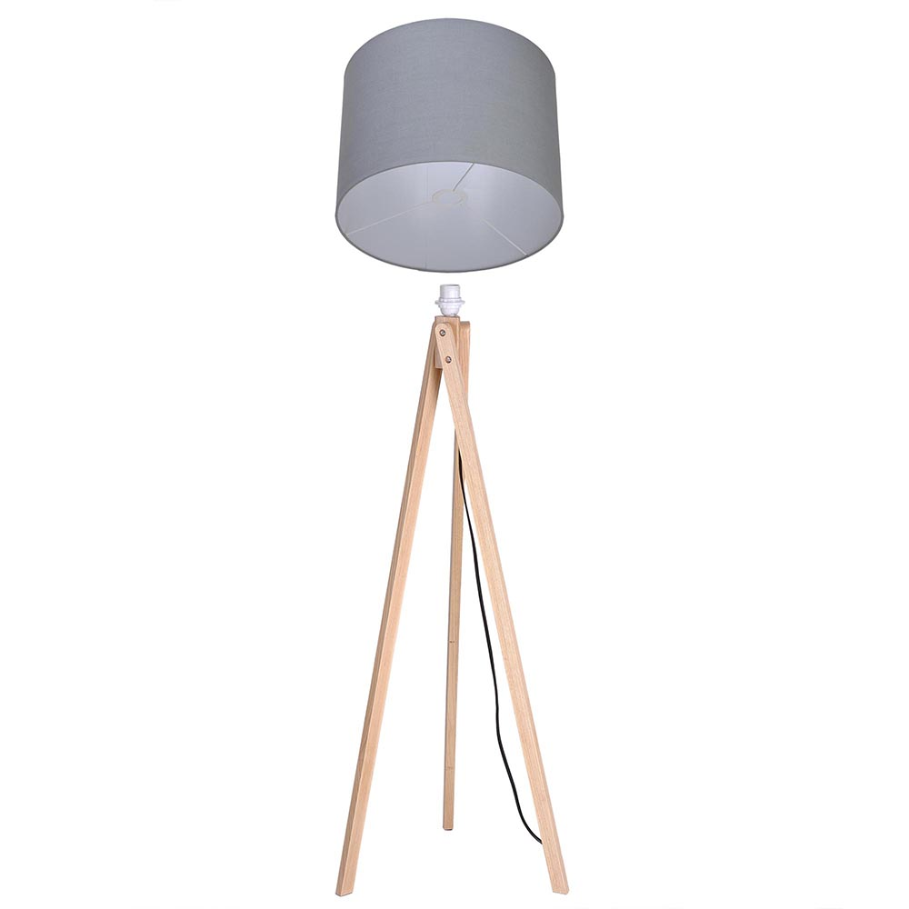 57 deluxe modern wood tripod table reading floor lamp for Floor lamp with table