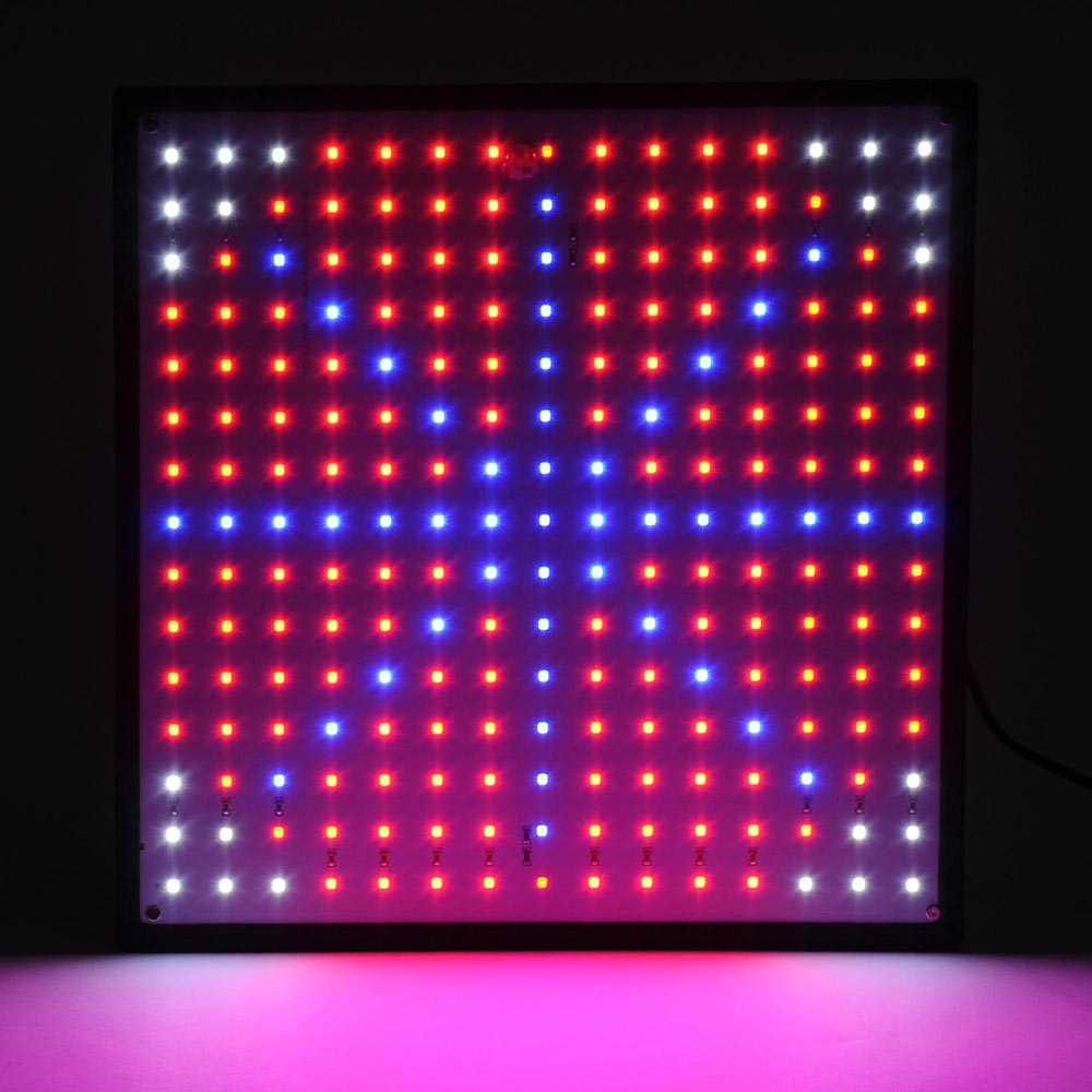 225 blue red orange white quad band led grow light panel. Black Bedroom Furniture Sets. Home Design Ideas