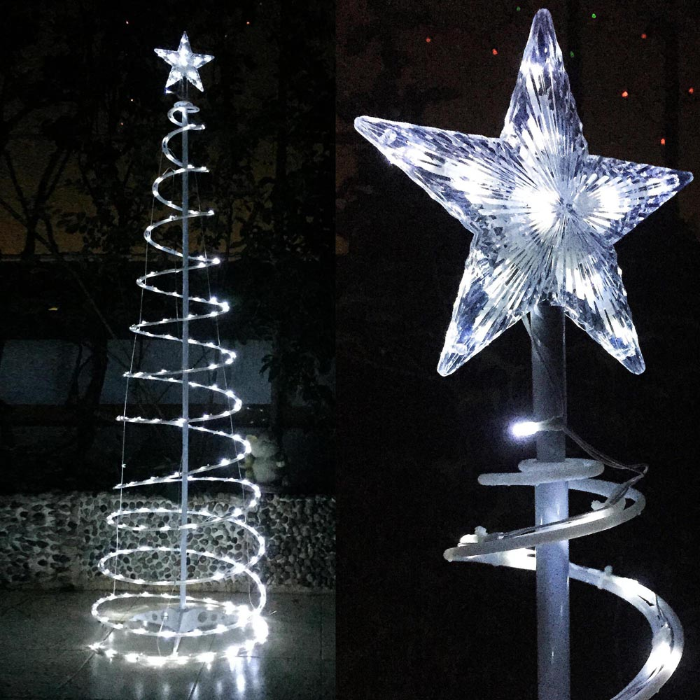 6 39 led spiral tree light home in outdoor store cafe bar for Christmas tree light lamps