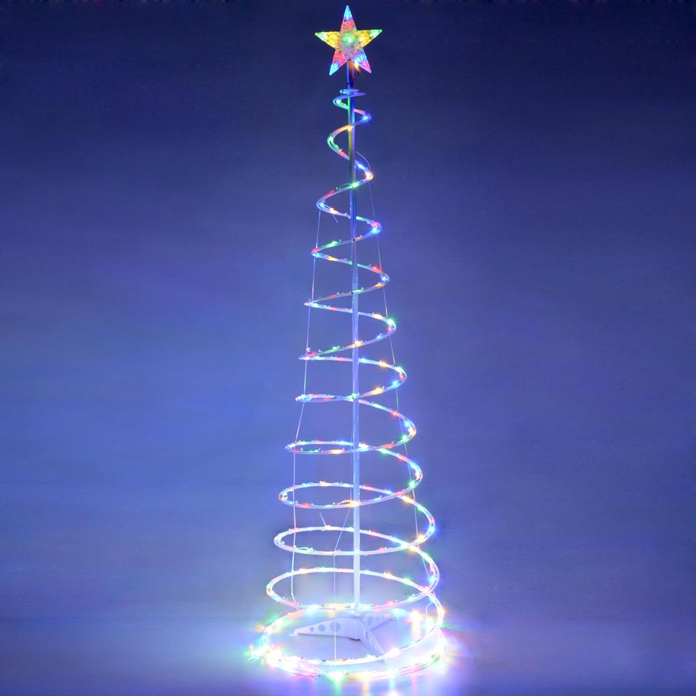 6 39 Color Changing Led Spiral Tree Lights Outdoor Indoor
