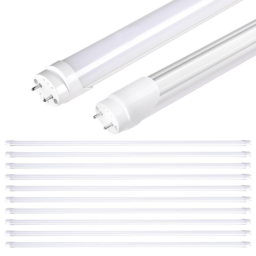 1 10 25 pack 18w 4ft white t8 led tube light bulb. Black Bedroom Furniture Sets. Home Design Ideas