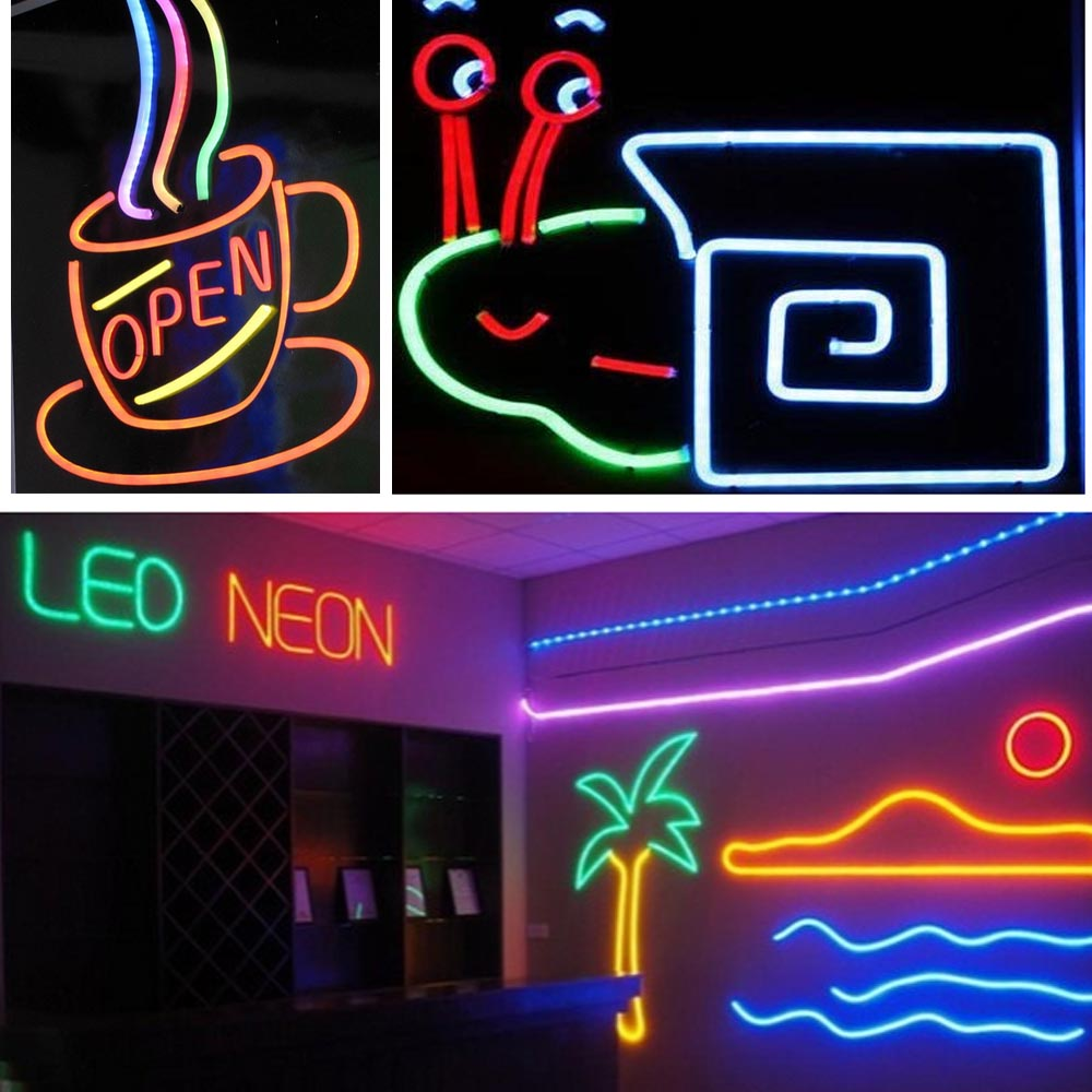150 39 led flex neon rope light tube sign valentine xmas. Black Bedroom Furniture Sets. Home Design Ideas
