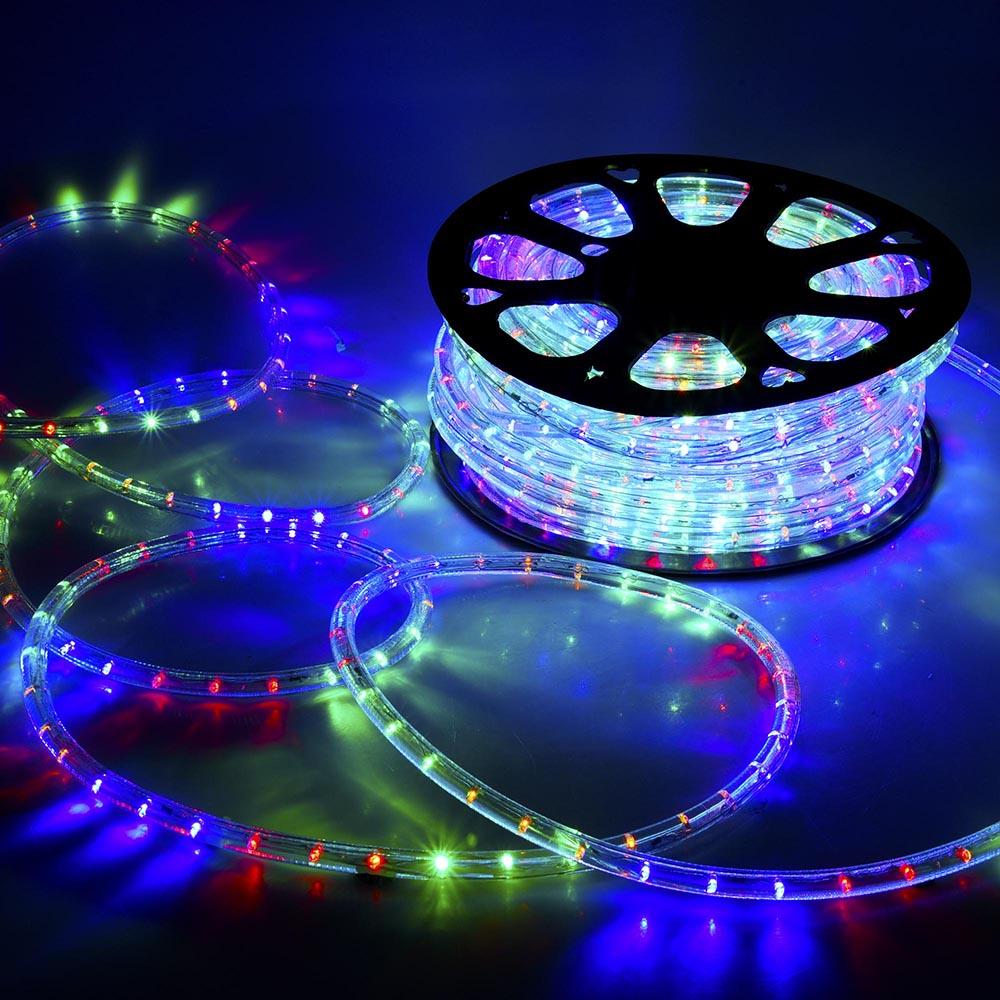 2pcs 150 39 ft 2 wire led rope light in outdoor home xmas party lighting 110v 300 39 ebay. Black Bedroom Furniture Sets. Home Design Ideas