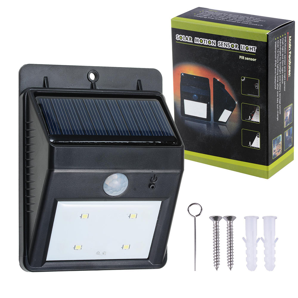 new 3 led outdoor solar powered led wall path landscape best