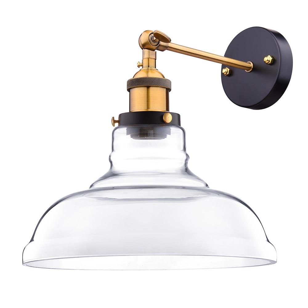 Industrial Wall Light Sconces: Vintage Retro Industrial Barn Wall Lamp Sconce Light Glass