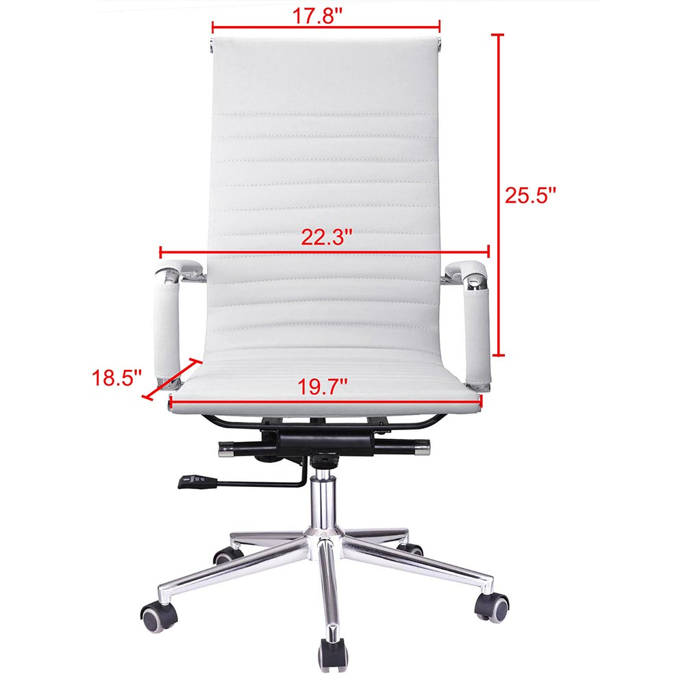 Ergonomic High Back Pu Leather Office Chair Computer Desk