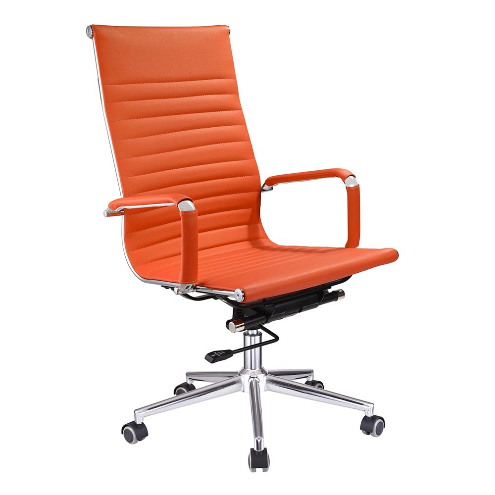 Tan leather office chair - Ergonomic High Back Pu Leather Office Chair Computer