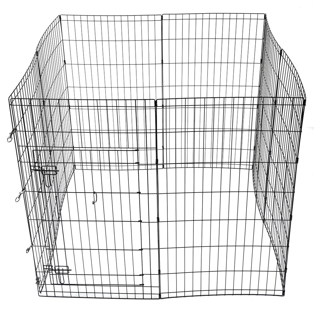 24 30 36 42 48 Dog Pet Playpen Metal Crate Fence 8 Panel Exercise Play Pen Cage