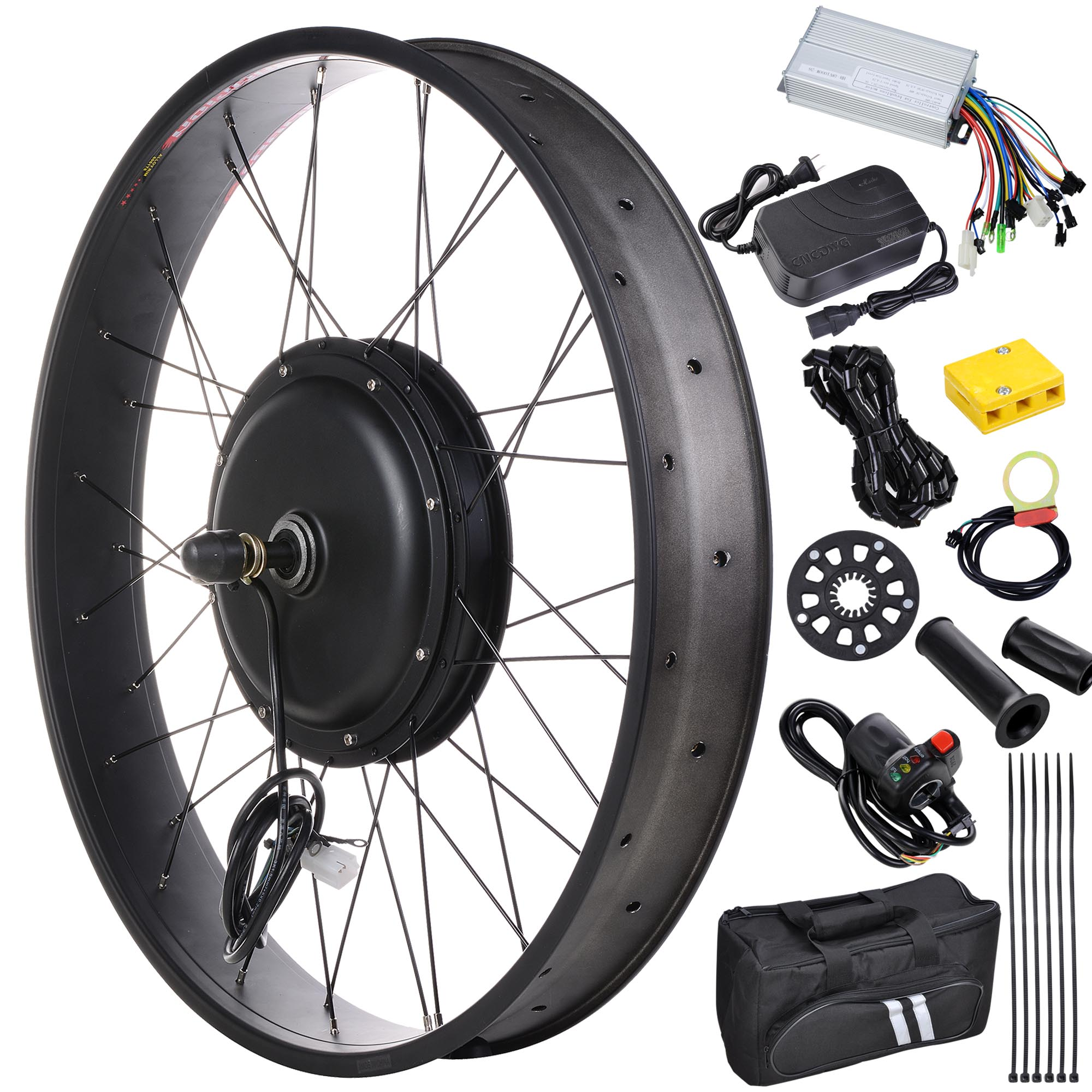 48v front fat tire electric bike conversion kit 20 3 1 4 for Fat bike front hub motor