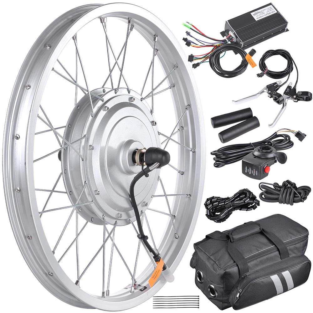 20 24 26 front fat wheel electric bicycle ebike for Bicycle electric motor kits