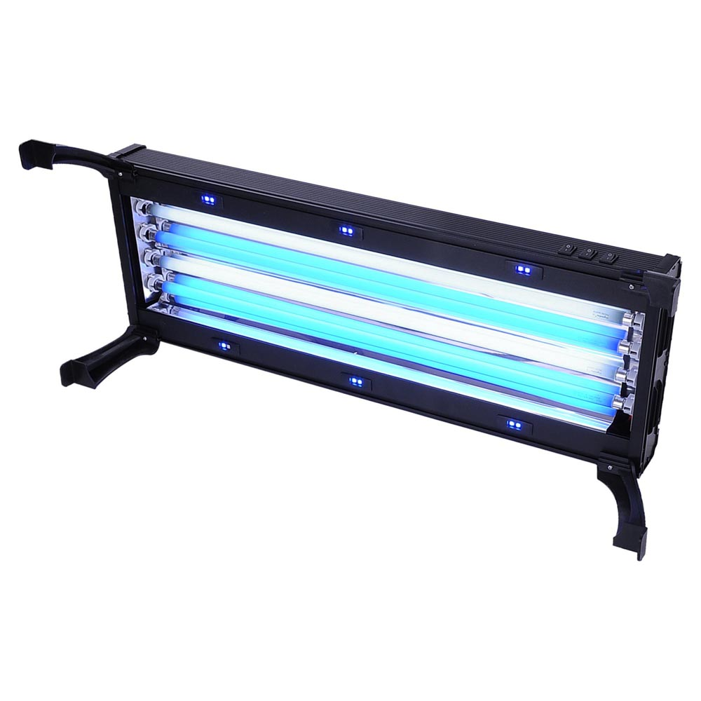 24 fluorescent actinic t5 ho aquarium light fixture 24w x marine led 96w 144w martlocal. Black Bedroom Furniture Sets. Home Design Ideas