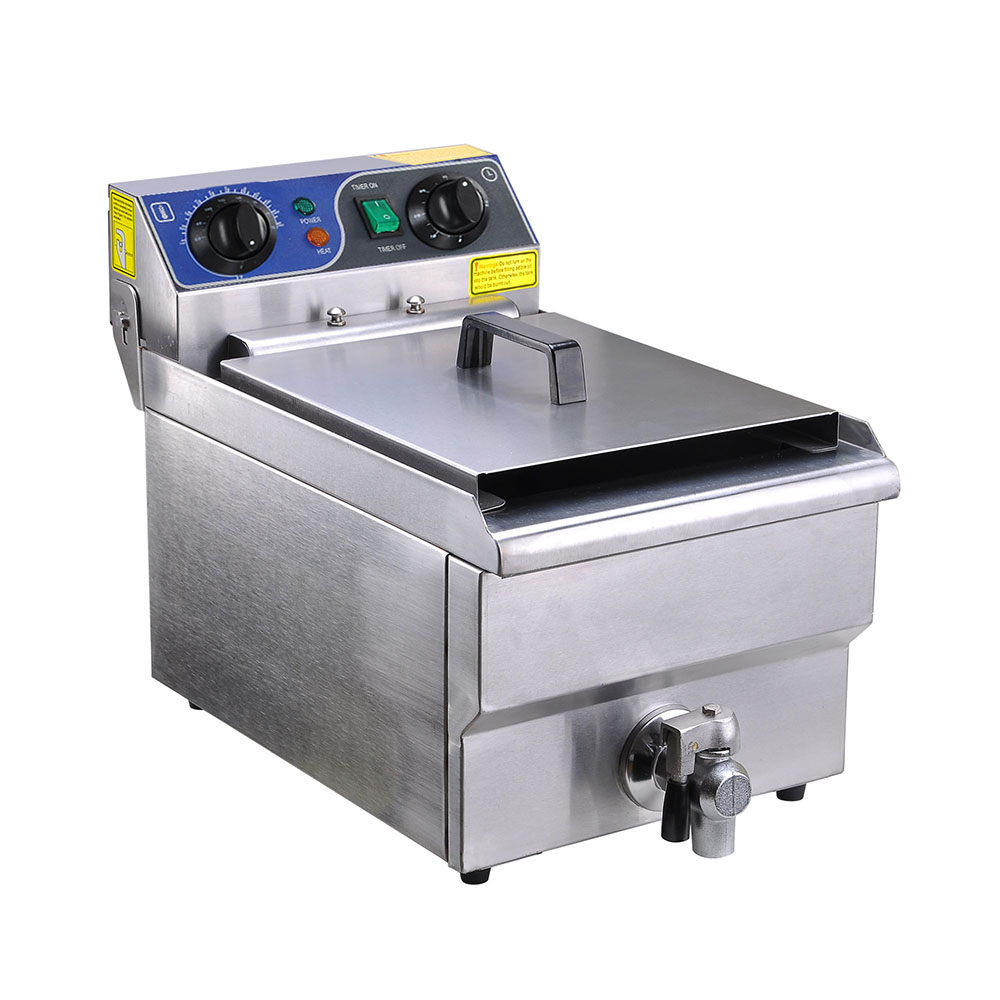 Electric Deep Fryer : L commercial electric deep fryer basket