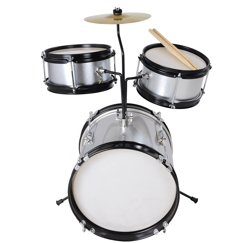 3pcs Junior Kids Children Drum Set Kit Sticks Throne