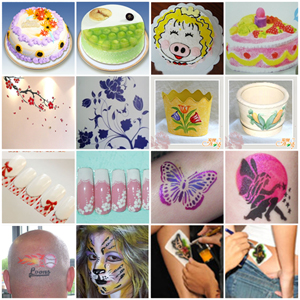 Cake Decorating Airbrush Stencils : AIRBRUSH COMPRESSOR KIT TATTOO STENCIL CAKE DECORATING