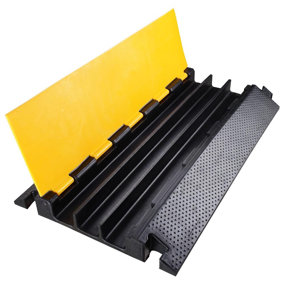 3 channel rubber electrical wire cable cover ramp guard. Black Bedroom Furniture Sets. Home Design Ideas