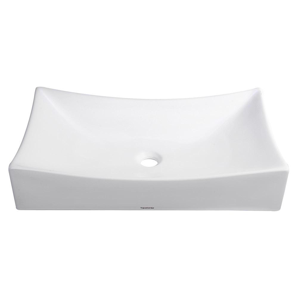 Aquaterior® Bathroom Porcelain Ceramic Vessel Sink Home Vanity Basin Popup Drain