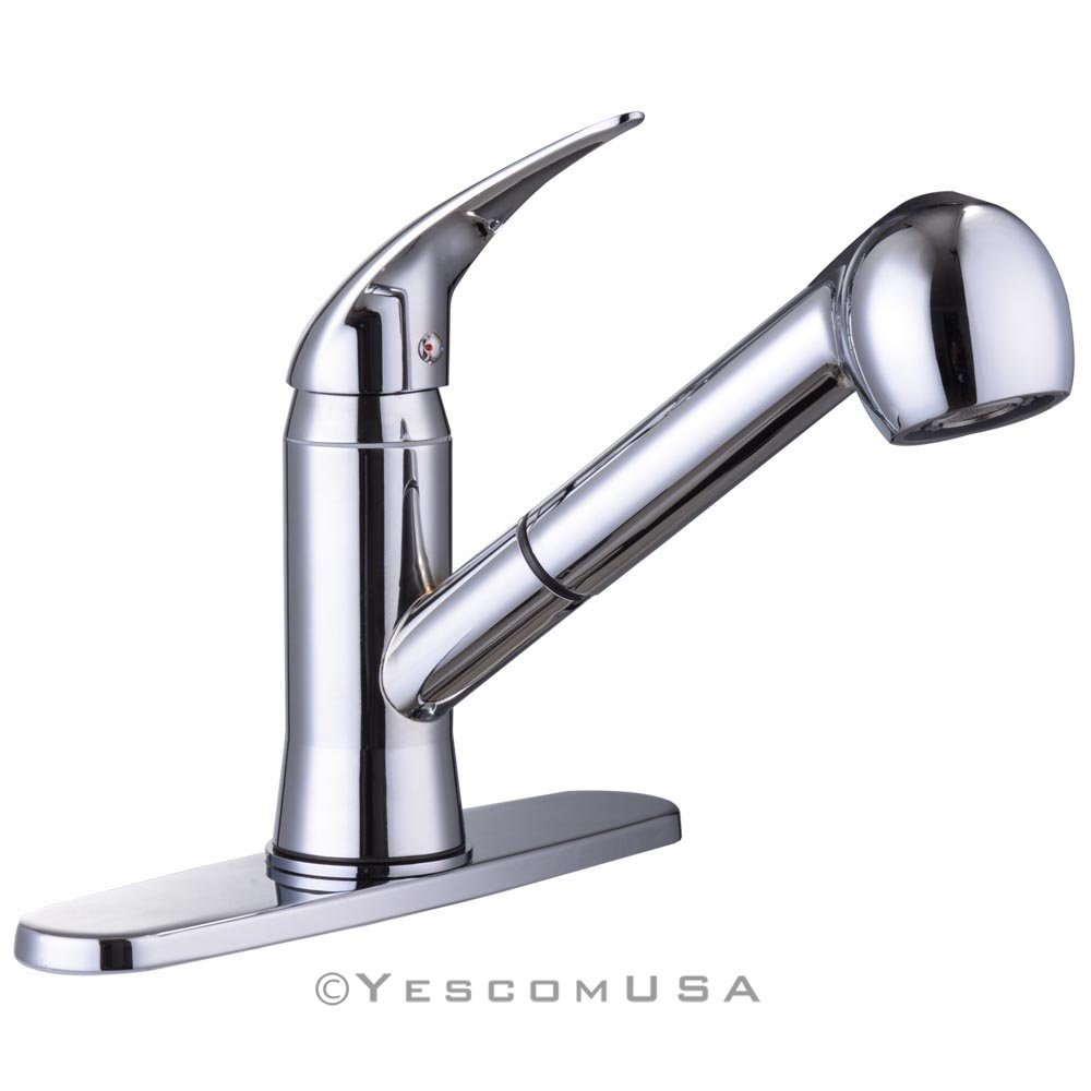 Pull Out Spray Kitchen Faucet Swivel Spout Sink Single Handle Mixer Tap Opt