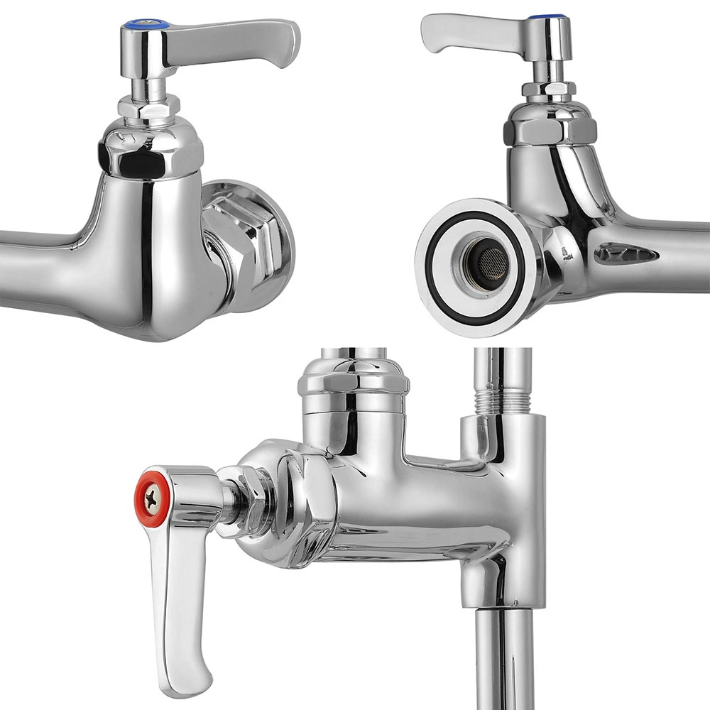 ... -178mm-Pre-Rinse-Faucet-Spray-Arm-Twin-Pedestal-Restaurant-Kitchen