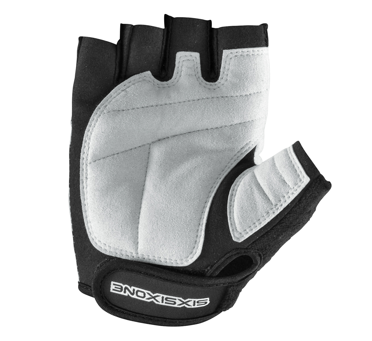 661-Altis-Short-Finger-Cycling-Gloves-BLACK-SILVER-or-WHITE-BLACK-6734 thumbnail 6