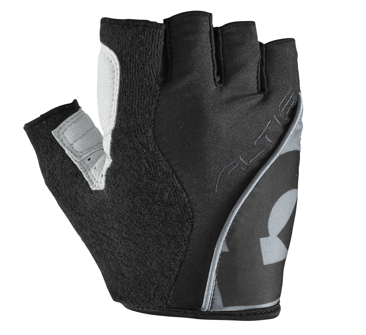 661-Altis-Short-Finger-Cycling-Gloves-BLACK-SILVER-or-WHITE-BLACK-6734 thumbnail 5