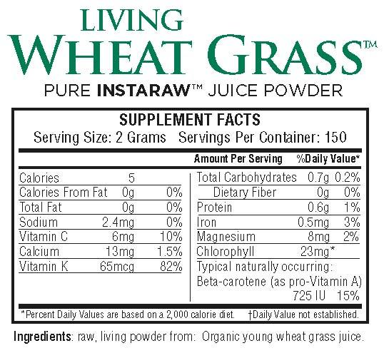 LivingWheatGrassPwd-Nutrition