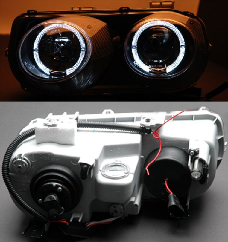 Acura Integra Headlights: [LED Halo] 1994 1995 1996 1997 Acura Integra Projector