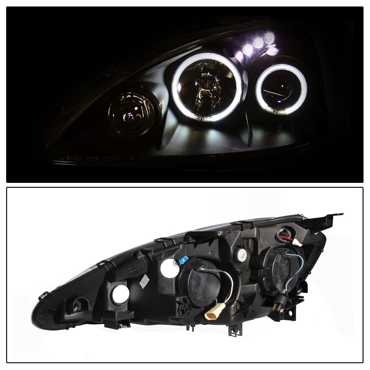 2006 Acura Tl Tail Lights For Sale: [Dual CCFL Halo] 2005 2006 Acura RSX LED Projector Black