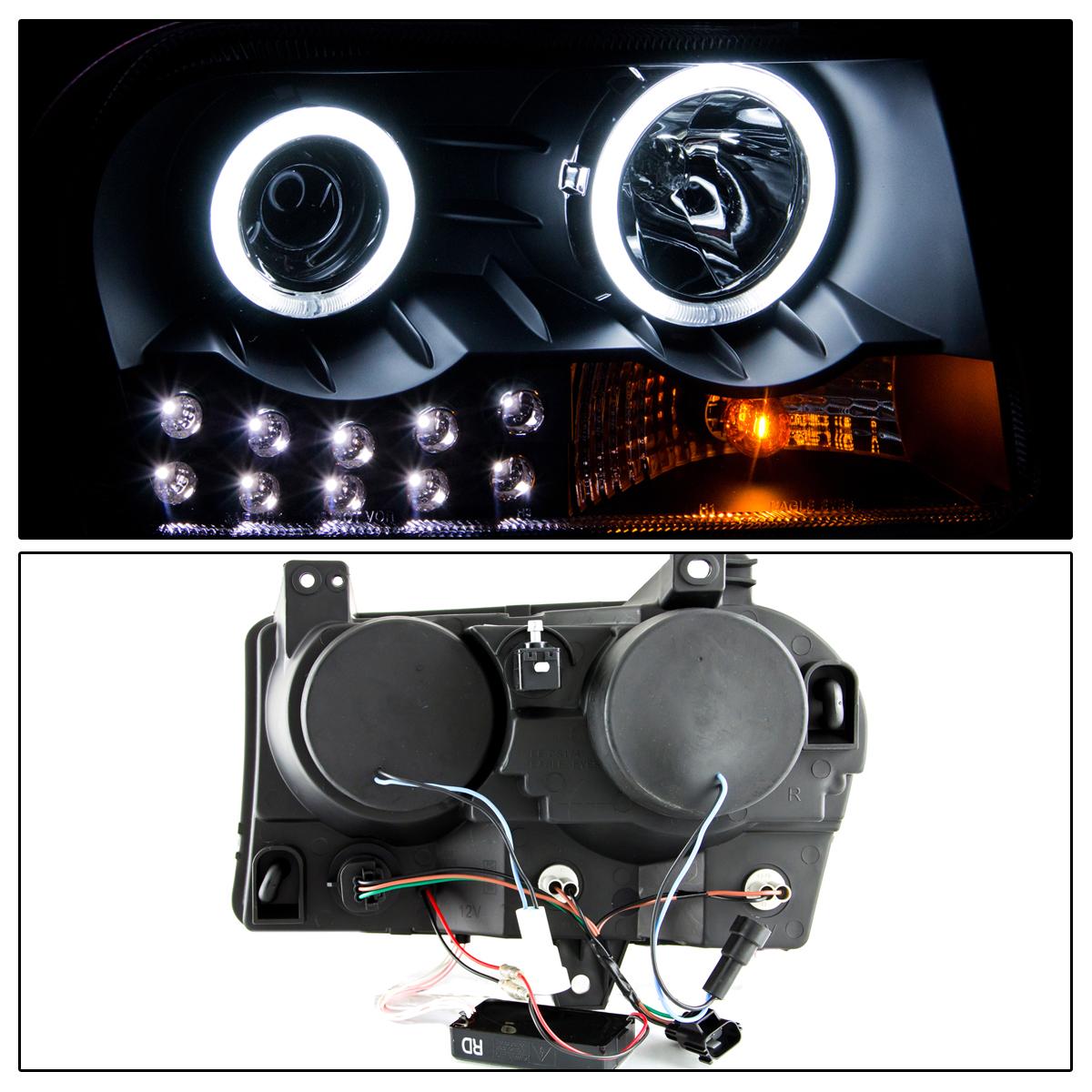 2005 2006 2007 2008 2009 2010 Chrysler 300 300c Black Mesh: [Dual CCFL Halo] 2005-2010 Chrysler 300 Black LED DRL