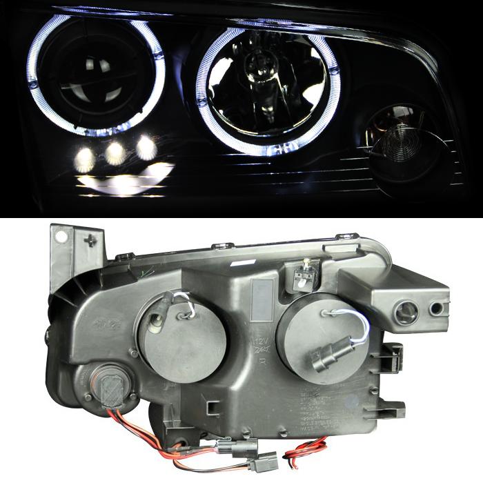 2006 Saab 9 2x Fog Lights: [LED Halo] 2006 2007 2008 2009 2010 Dodge Charger Black