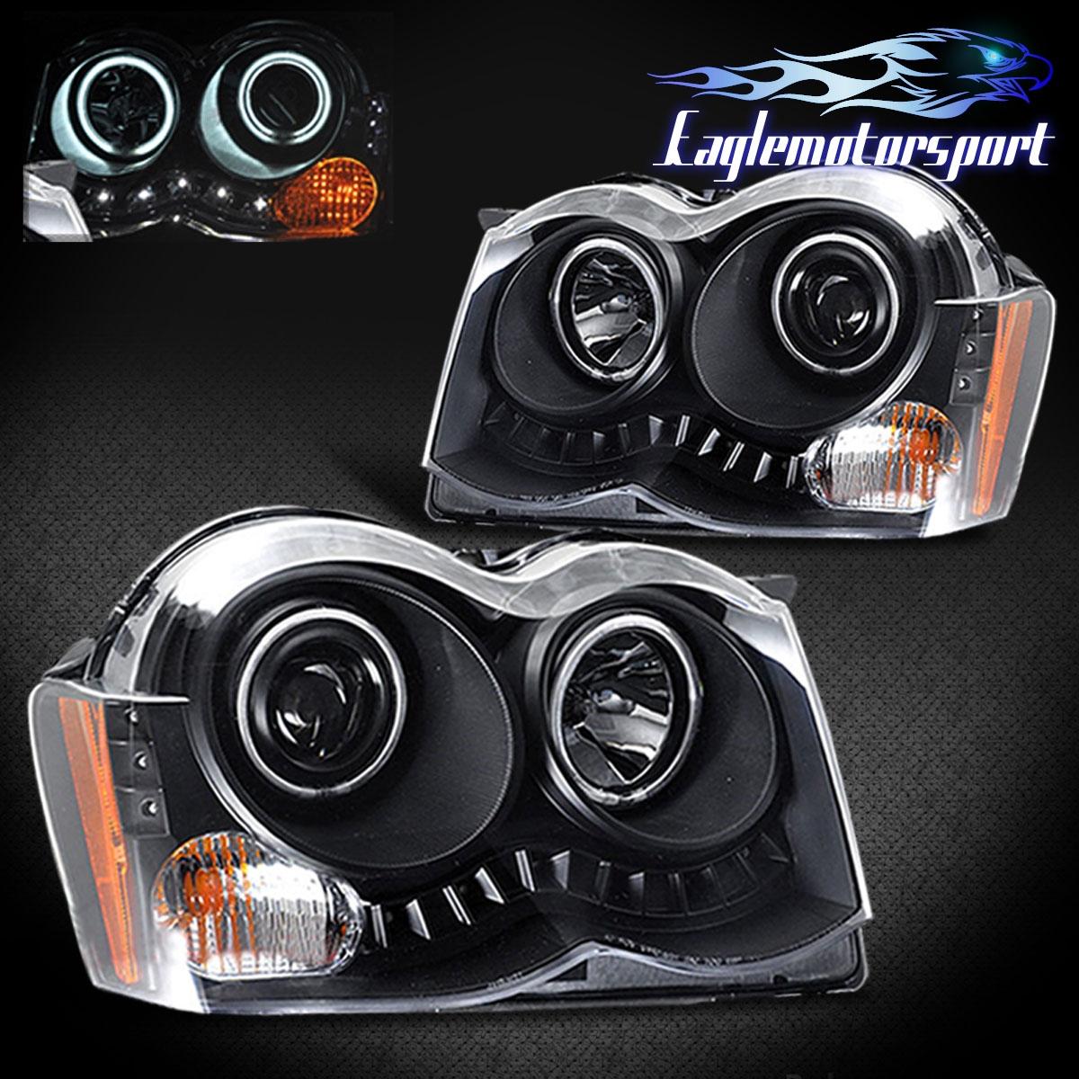[Dual CCFL Halo] 2008-2010 Jeep Grand Cherokee Black LED