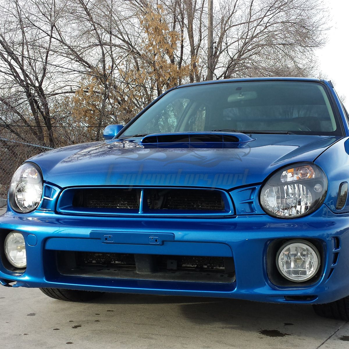 2002 2003 subaru impreza wrx sti black headlights factory style head lamps pair ebay. Black Bedroom Furniture Sets. Home Design Ideas
