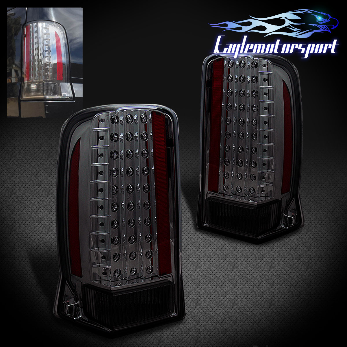 2003 2004 2005 2006 cadillac escalade red rear tail lights pair ebay. Black Bedroom Furniture Sets. Home Design Ideas