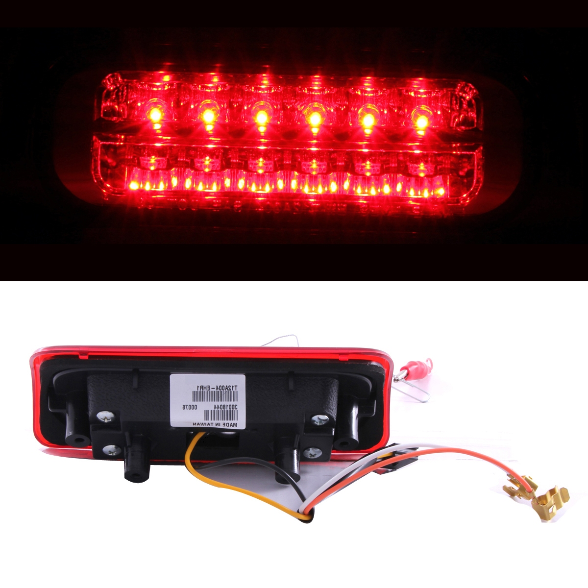 1994 Gmc Sonoma Black Led Tail Lights Smoke 3rd Brake Lamp Set