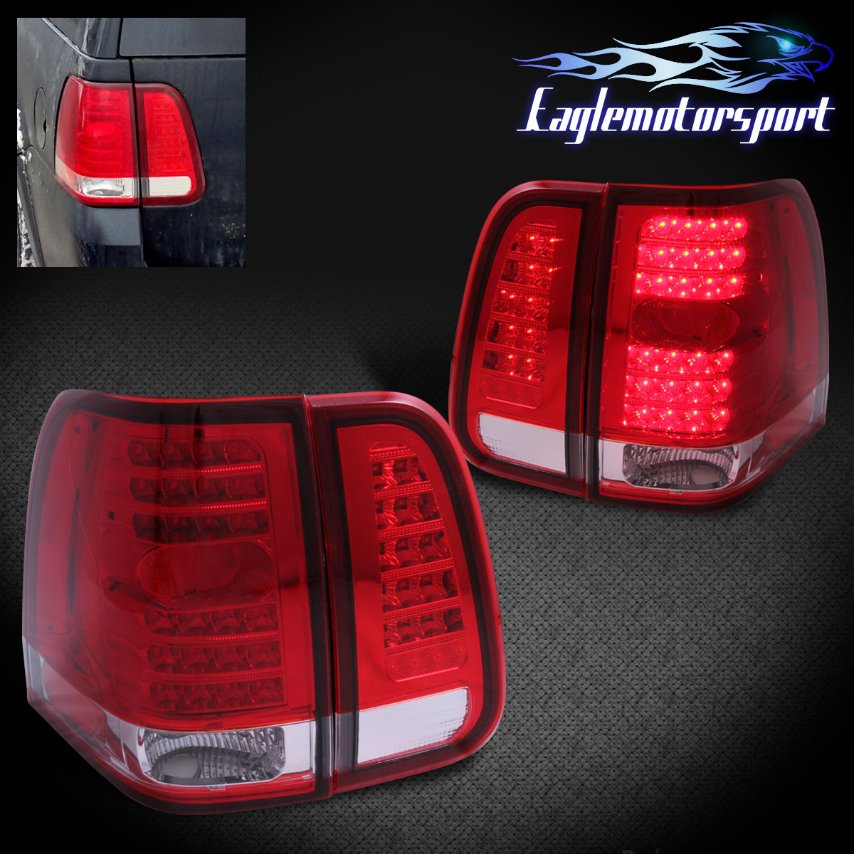 2006 Acura Tl Tail Lights For Sale: 2003 2004 2005 2006 Lincoln Navigator Red LED Clear Tail
