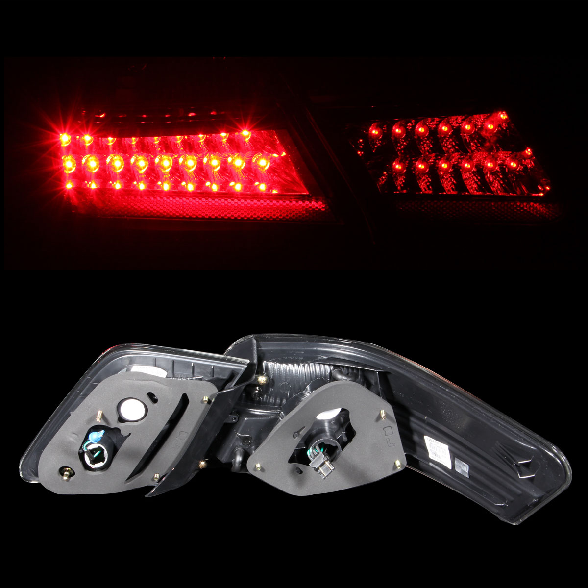 2007 2008 2009 toyota camry jdm style red led tail lights pair set ebay. Black Bedroom Furniture Sets. Home Design Ideas
