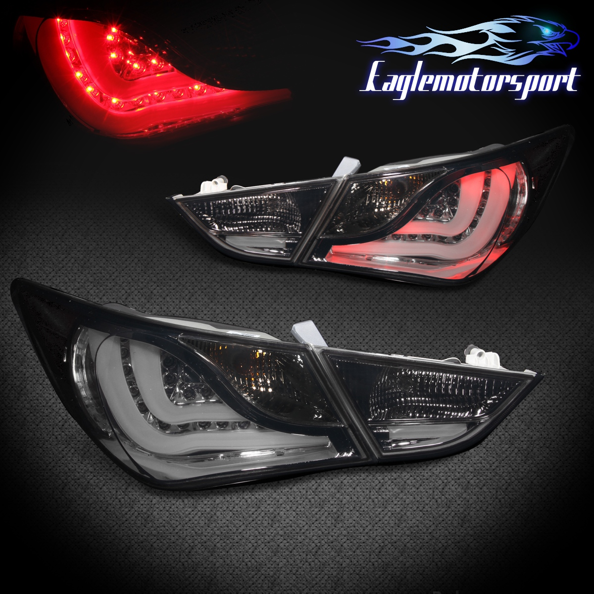 For 2011 2012 2013 Hyundai Sonata Smoked Led Tail Lights